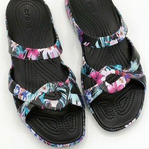 Crocs Meleen Twist Sandals Size 10 Flowers Floral